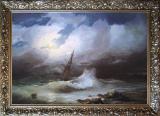 Furtună noaptea (replica Aivazovsky)
