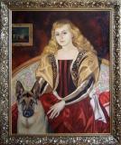 Portret de fată cu câine