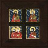 Icoana Sfantul Grigore, Sfantul Vasile, Sfintii Constantin si Elena