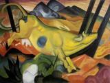 Yellow cow (vaca galbena), Franz Marc