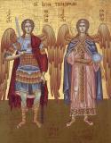 Icoana Sfinţii Arhangheli Gavril şi Mihail