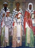 Icoana Sfinţii Vasile cel Mare, Grigorie Cuvântătorul de Dumnezeu şi Ioan Gură de Aur