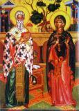 Icoana Maica Domnului şi Sfântul Nicolae